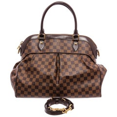 Louis Vuitton Damier Ebene Canvas Leather Trevi GM Shoulder Bag