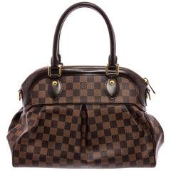 Louis Vuitton Damier Ebene Canvas Leather Trevi PM Shoulder Bag