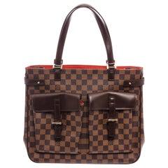Louis Vuitton Damier Ebene Canvas Leather Uzes Shoulder Bag