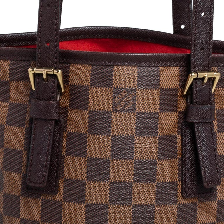 Louis Vuitton Damier Ebene Canvas Marais Bucket Bag For Sale 1