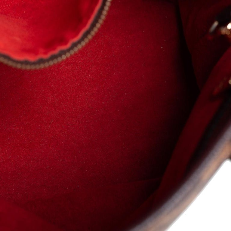 Louis Vuitton Damier Ebene Canvas Marais Bucket Bag For Sale 3