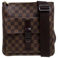 Louis Vuitton Damier Ebene Canvas Melville Pochette Bag