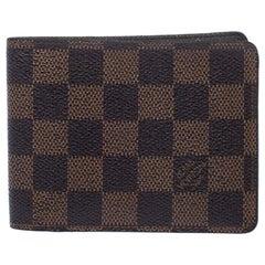 Louis Vuitton Damier Ebene Canvas Multiple Bifold Wallet