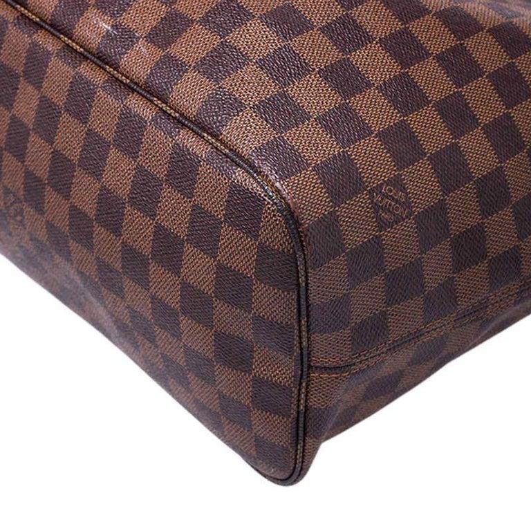 Louis Vuitton Damier Ebene Canvas Neverfull MM Bag For Sale 6