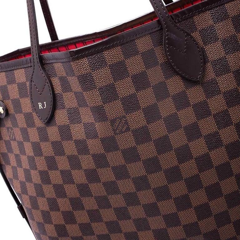 Louis Vuitton Damier Ebene Canvas Neverfull MM Bag For Sale 1