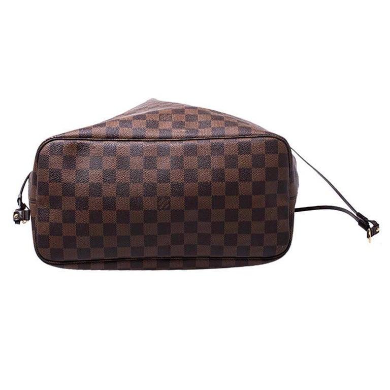 Louis Vuitton Damier Ebene Canvas Neverfull MM Bag For Sale 3