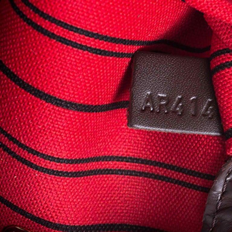 Louis Vuitton Damier Ebene Canvas Neverfull MM Bag For Sale 4