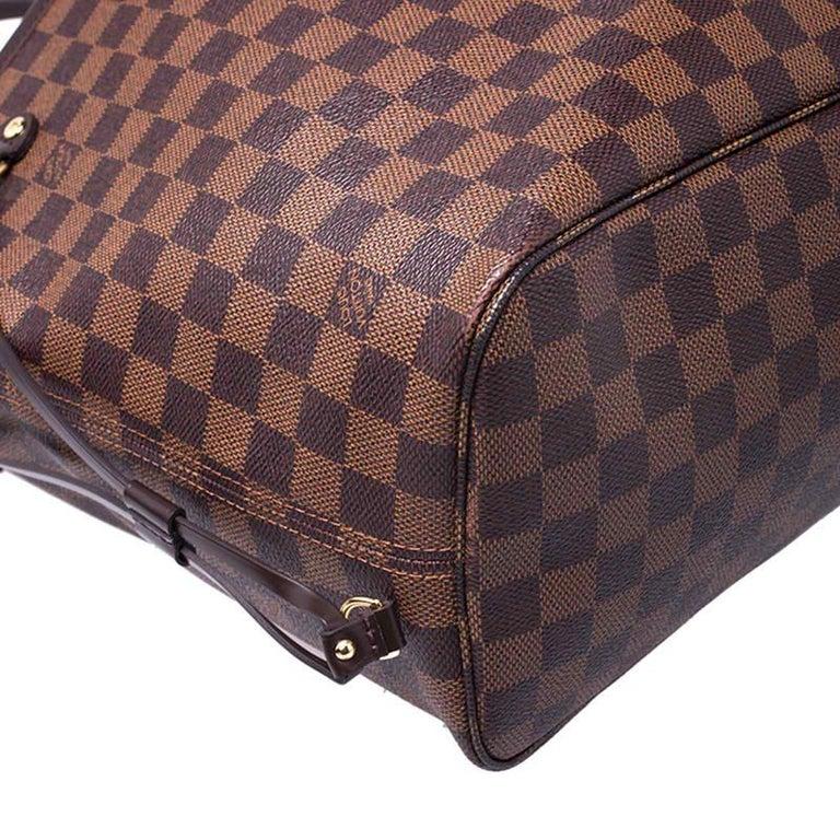 Louis Vuitton Damier Ebene Canvas Neverfull MM Bag For Sale 5