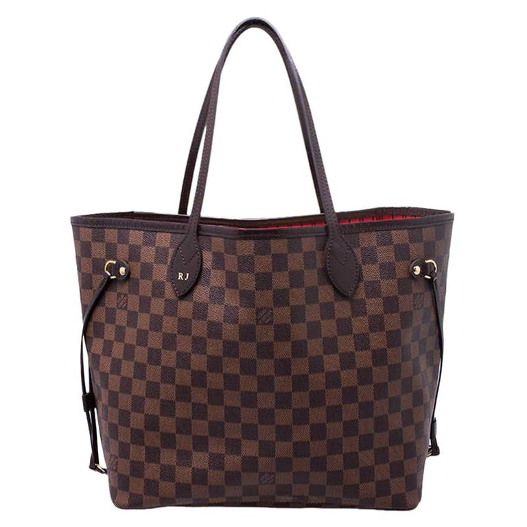 Louis Vuitton Damier Ebene Canvas Neverfull MM Bag For Sale