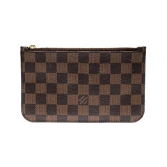 Louis Vuitton Damier Ebene Canvas Neverfull PM Zipped Pochette