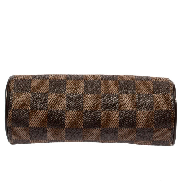Louis Vuitton Damier Ebene Canvas Papillon Pouch For Sale 6