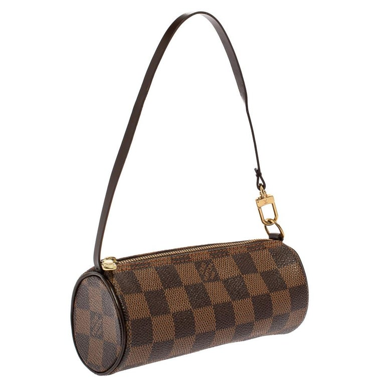 Louis Vuitton Damier Ebene Canvas Papillon Pouch In Good Condition For Sale In Dubai, Al Qouz 2
