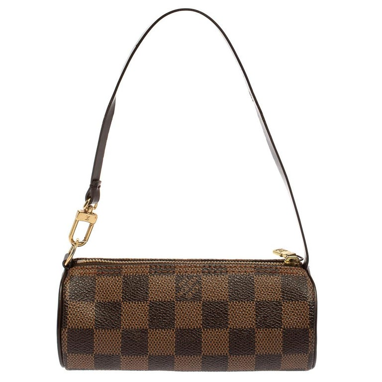 Women's Louis Vuitton Damier Ebene Canvas Papillon Pouch For Sale