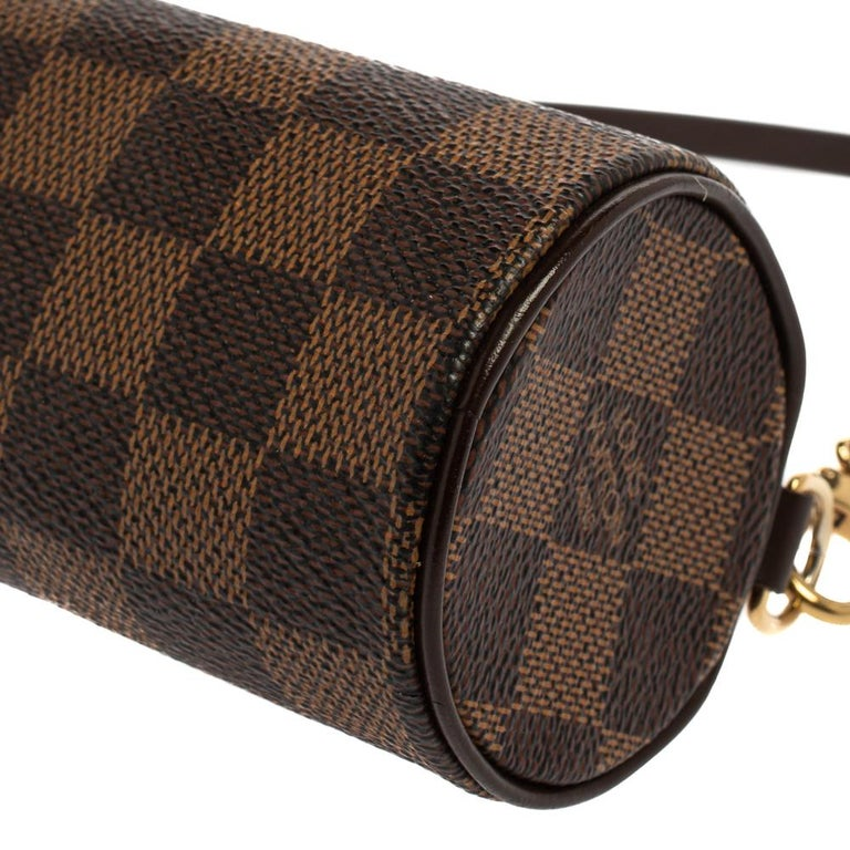 Louis Vuitton Damier Ebene Canvas Papillon Pouch For Sale 1