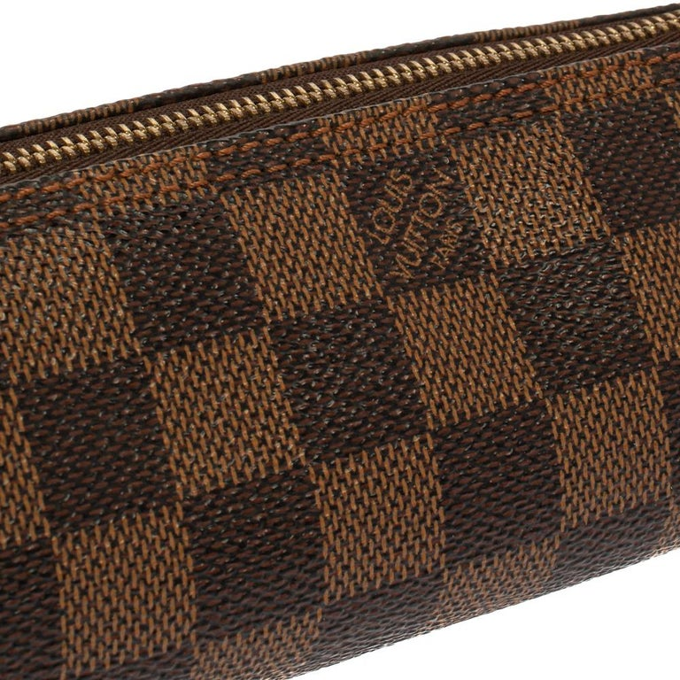 Louis Vuitton Damier Ebene Canvas Papillon Pouch For Sale 4