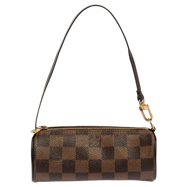 Louis Vuitton Damier Ebene Canvas Papillon Pouch For Sale