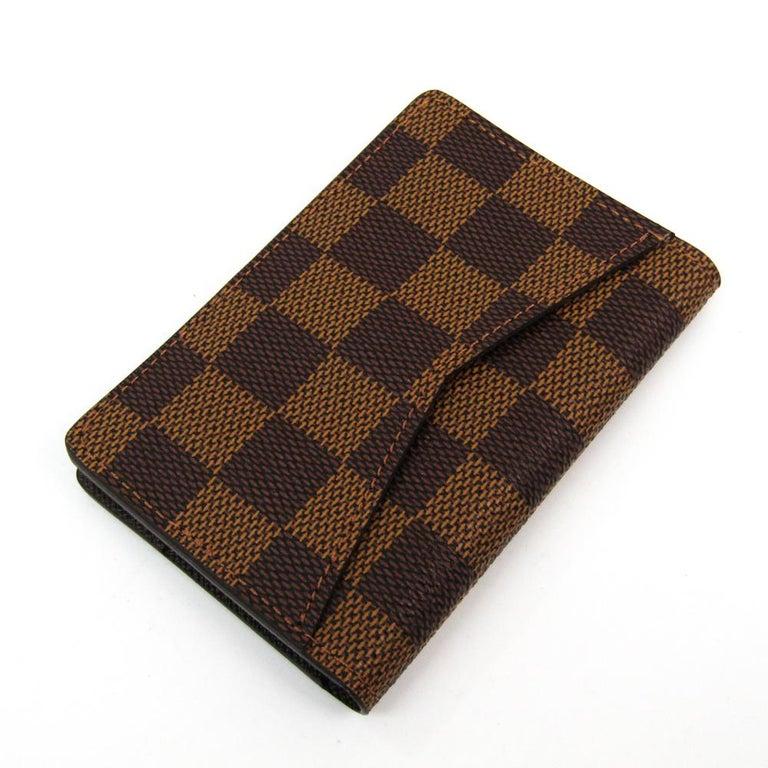 Louis Vuitton Damier Ebene Canvas Pocket Organizer In Good Condition For Sale In Dubai, Al Qouz 2
