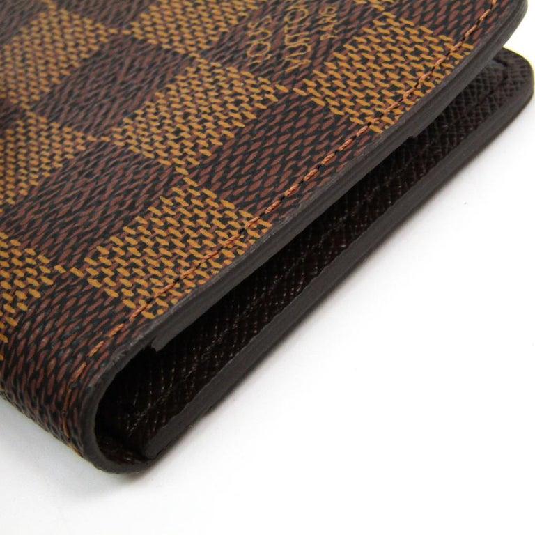 Louis Vuitton Damier Ebene Canvas Pocket Organizer For Sale 2