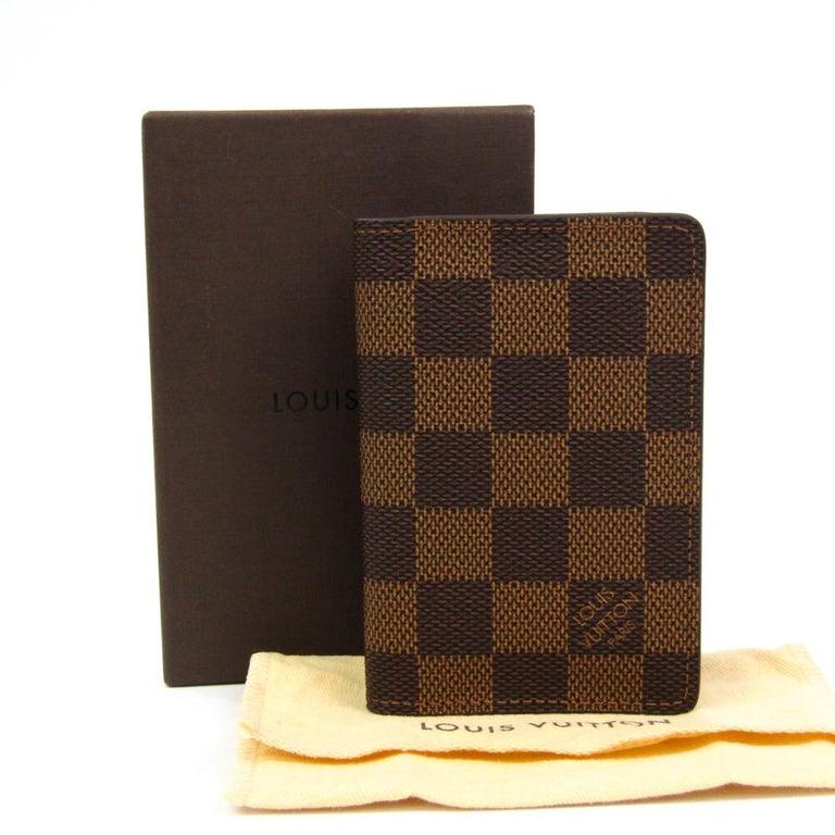 Louis Vuitton Damier Ebene Canvas Pocket Organizer For Sale 5