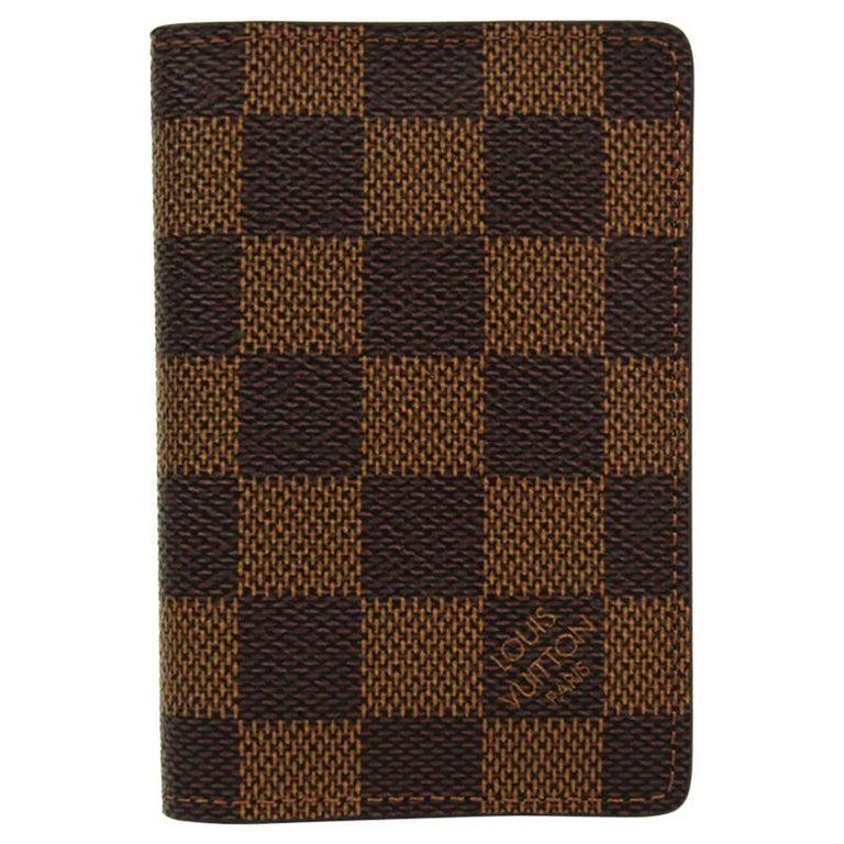 Louis Vuitton Damier Ebene Canvas Pocket Organizer For Sale