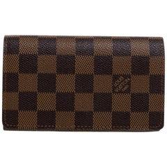 Louis Vuitton Damier Ebene Canvas Porte Monnaie Billets Tresor Wallet