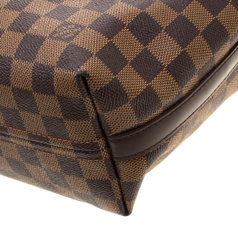 Louis Vuitton Damier Ebene Canvas Portobello PM Bag For Sale 6