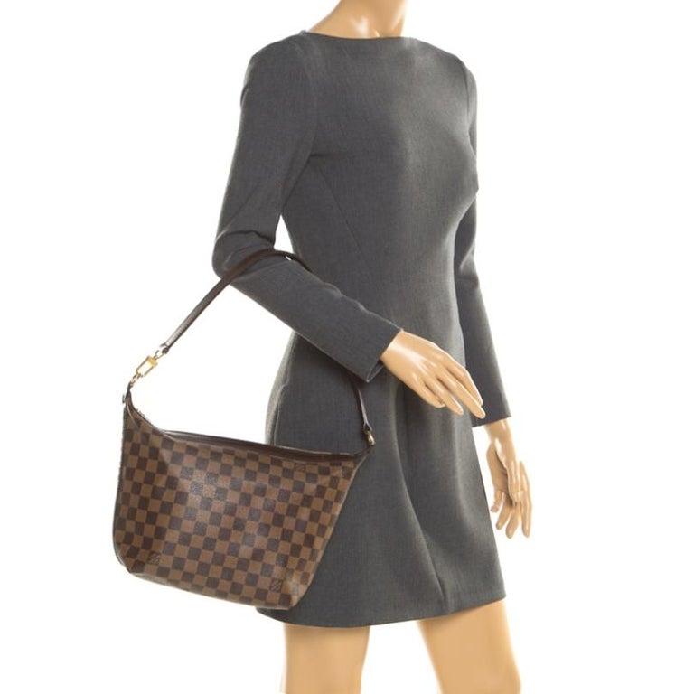 Black Louis Vuitton Damier Ebene Canvas Portobello PM Bag For Sale