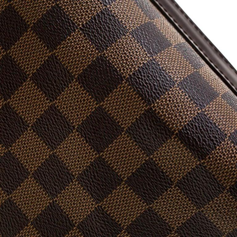 Women's Louis Vuitton Damier Ebene Canvas Portobello PM Bag For Sale
