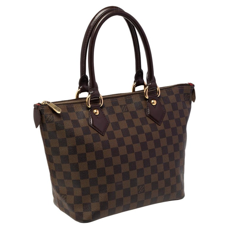Louis Vuitton Damier Ebene Canvas Saleya PM Bag In Good Condition For Sale In Dubai, Al Qouz 2