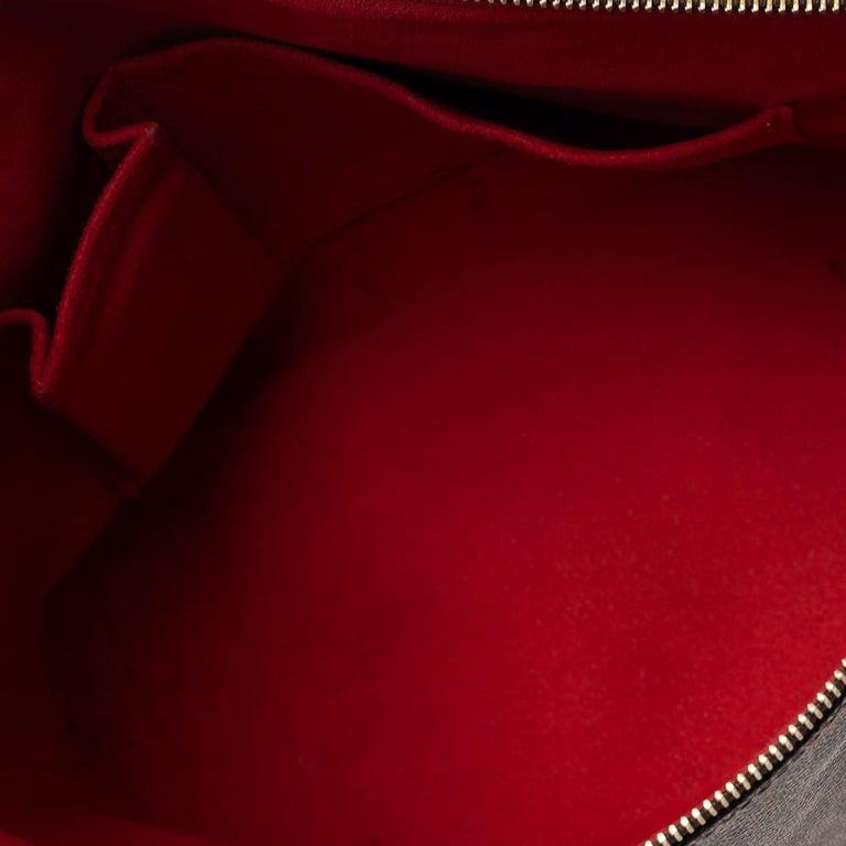 Louis Vuitton Damier Ebene Canvas Saleya PM Bag For Sale 2
