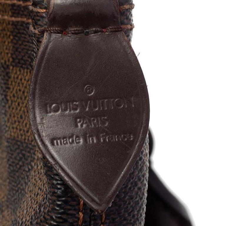 Louis Vuitton Damier Ebene Canvas Saleya PM Bag For Sale 4