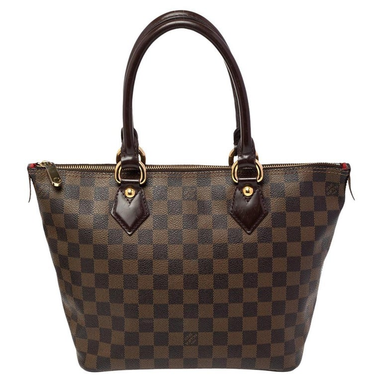Louis Vuitton Damier Ebene Canvas Saleya PM Bag For Sale