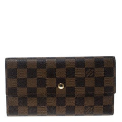 Louis Vuitton Damier Ebene Canvas Sarah Wallet