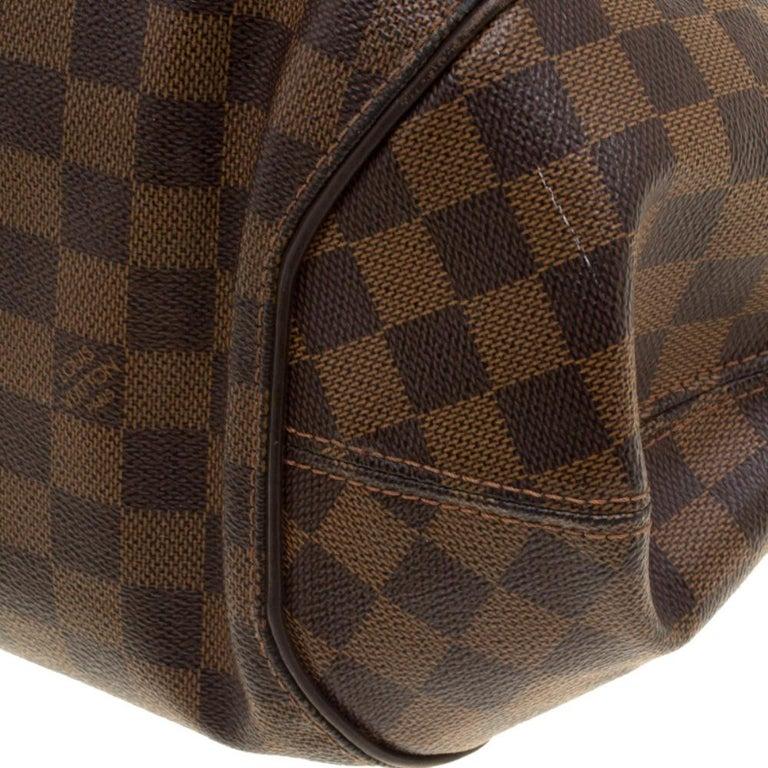 Louis Vuitton Damier Ebene Canvas Sistina GM Bag For Sale 6