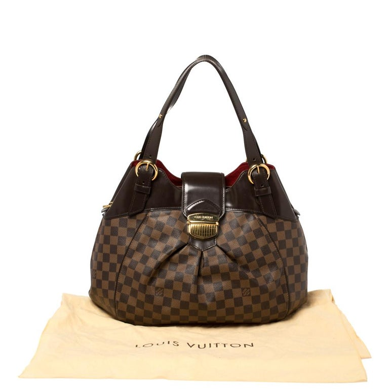 Louis Vuitton Damier Ebene Canvas Sistina GM Bag For Sale 7