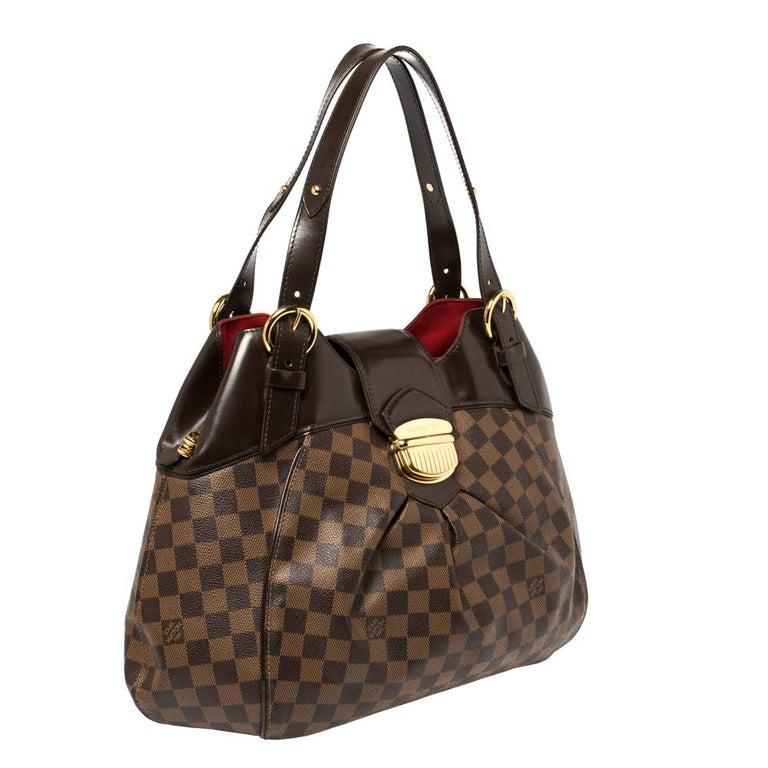 Black Louis Vuitton Damier Ebene Canvas Sistina GM Bag For Sale