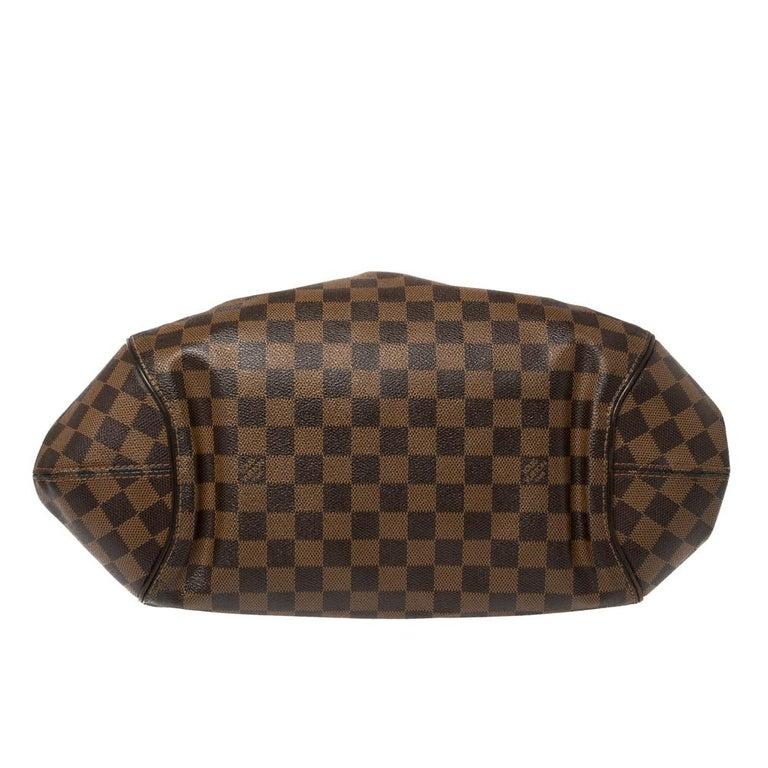 Women's Louis Vuitton Damier Ebene Canvas Sistina GM Bag For Sale