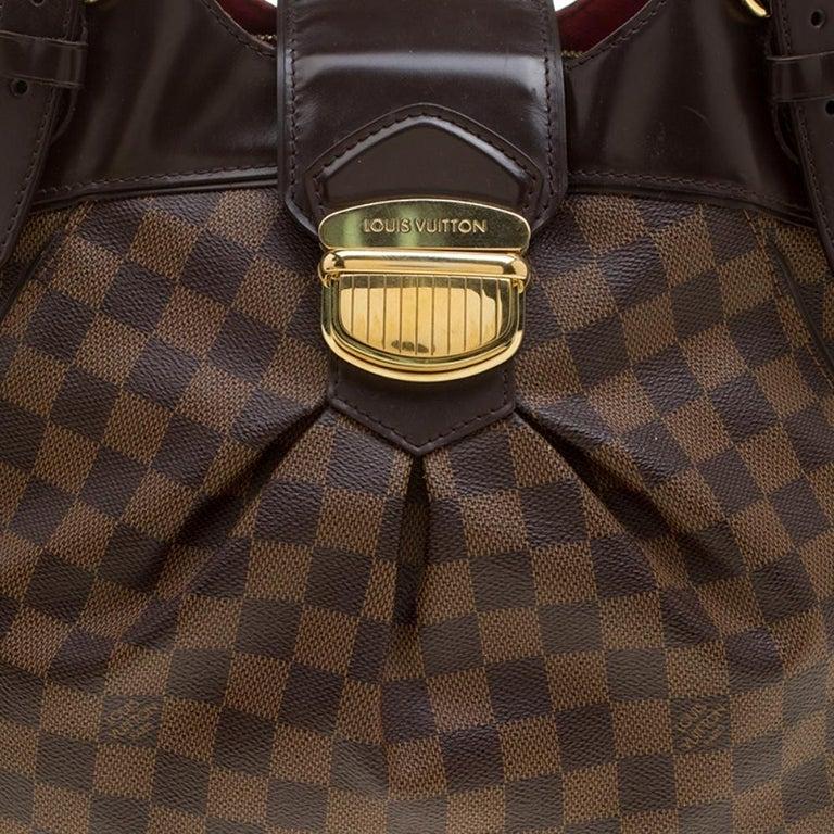 Louis Vuitton Damier Ebene Canvas Sistina GM Bag For Sale 2