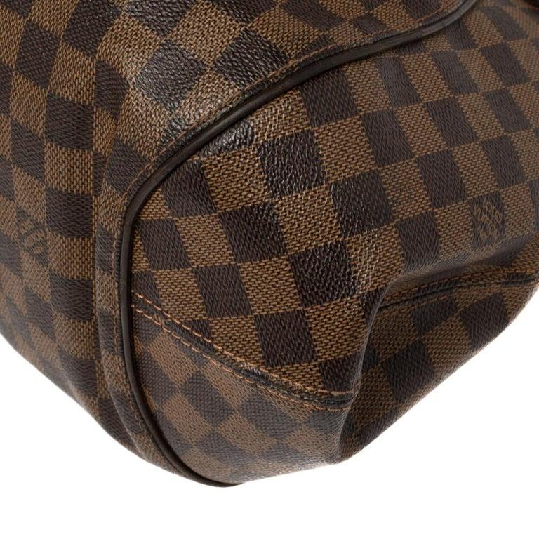 Louis Vuitton Damier Ebene Canvas Sistina GM Bag For Sale 1