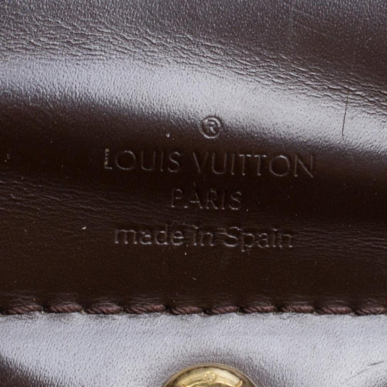 Louis Vuitton Damier Ebene Canvas Sistina GM Bag For Sale 4