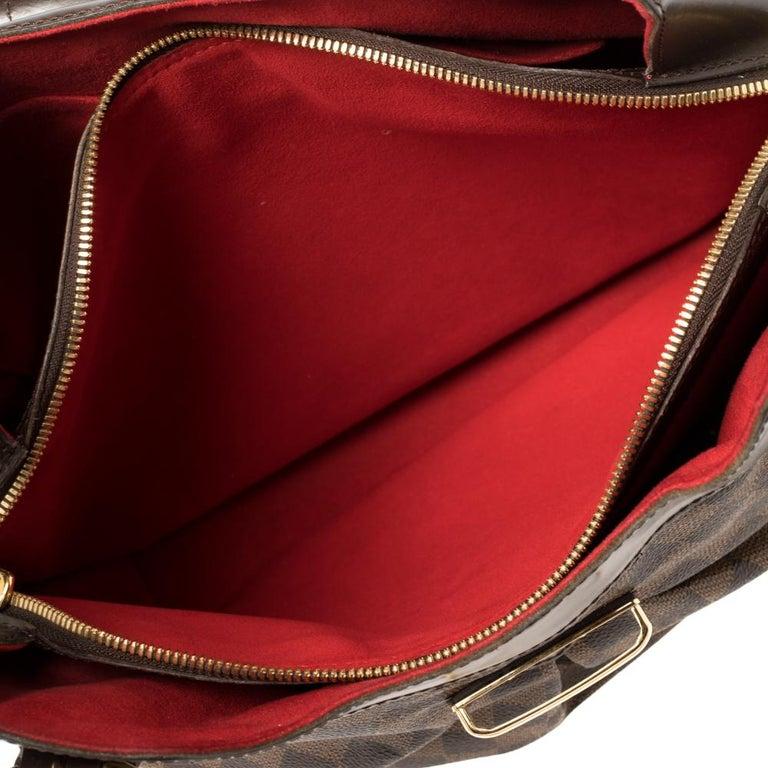 Louis Vuitton Damier Ebene Canvas Sistina GM Bag For Sale 3