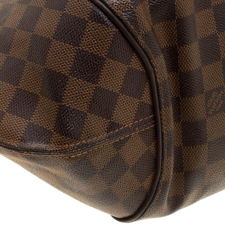 Louis Vuitton Damier Ebene Canvas Sistina GM Bag For Sale 5