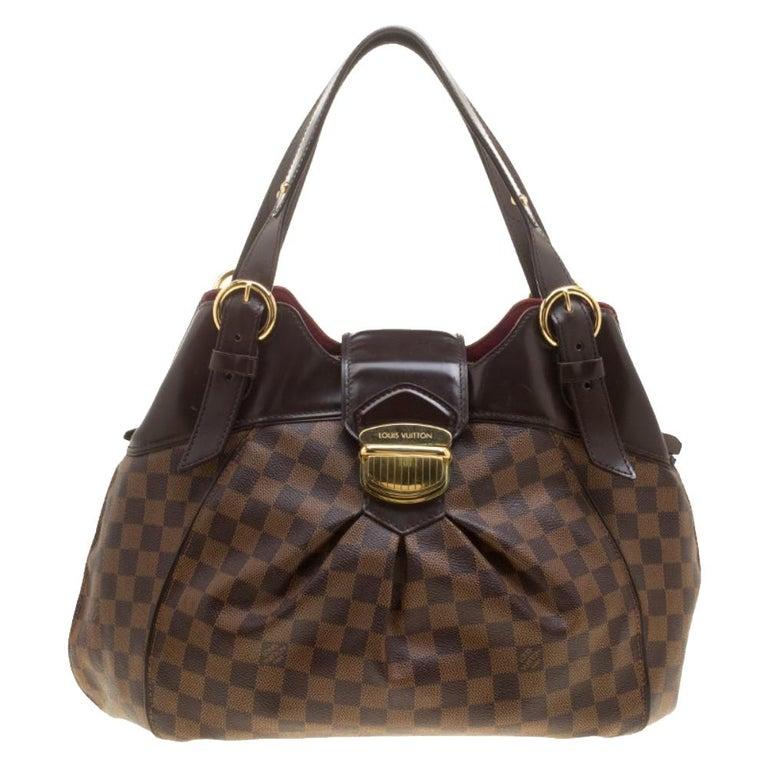 Louis Vuitton Damier Ebene Canvas Sistina GM Bag For Sale