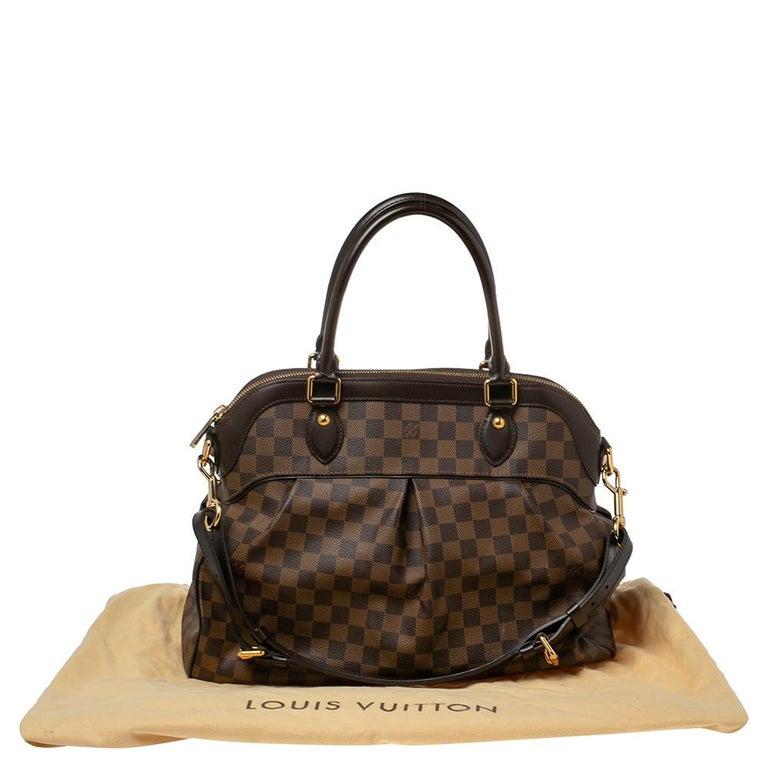 Louis Vuitton Damier Ebene Canvas Trevi GM Bag For Sale 7
