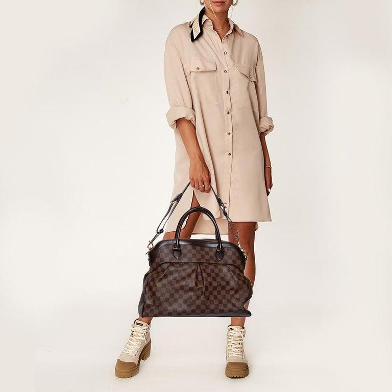 Black Louis Vuitton Damier Ebene Canvas Trevi GM Bag For Sale