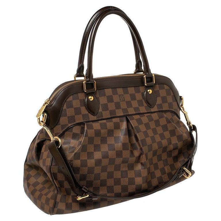 Louis Vuitton Damier Ebene Canvas Trevi GM Bag In Good Condition For Sale In Dubai, Al Qouz 2