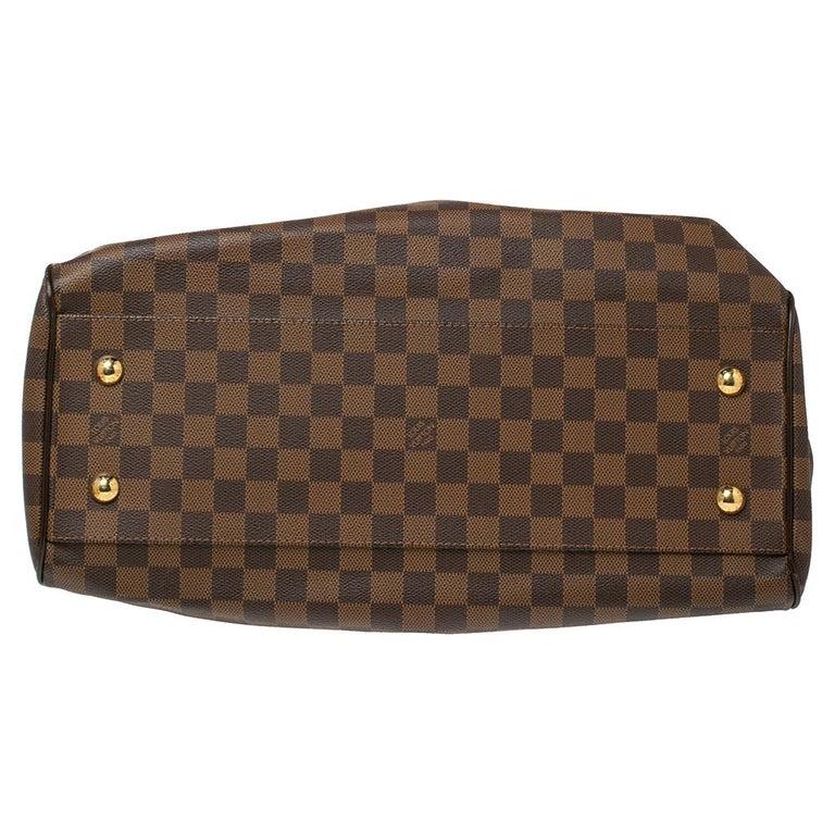 Women's Louis Vuitton Damier Ebene Canvas Trevi GM Bag For Sale