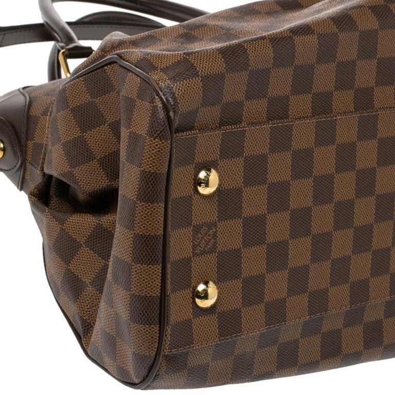 Louis Vuitton Damier Ebene Canvas Trevi GM Bag For Sale 1