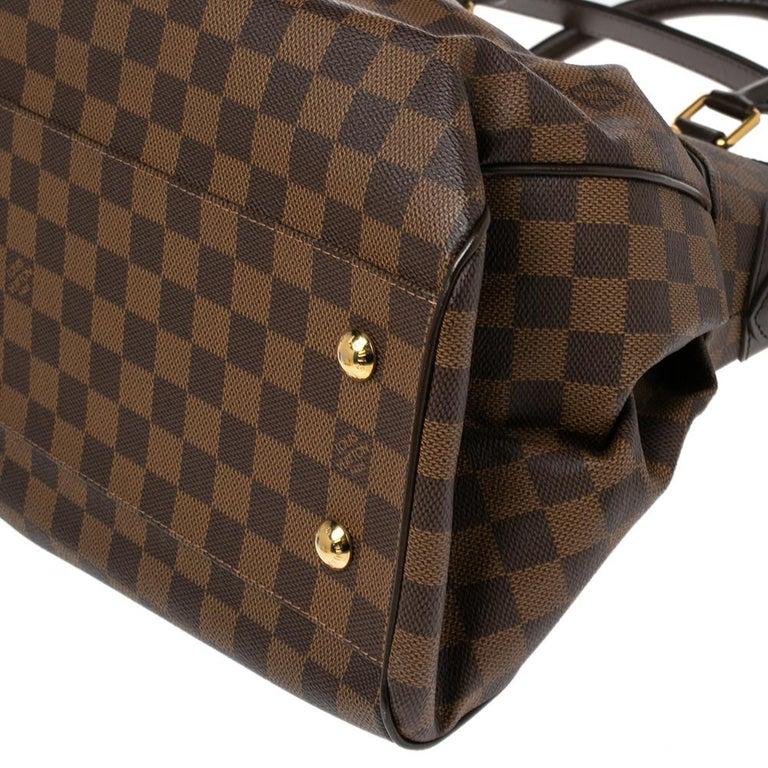 Louis Vuitton Damier Ebene Canvas Trevi GM Bag For Sale 2