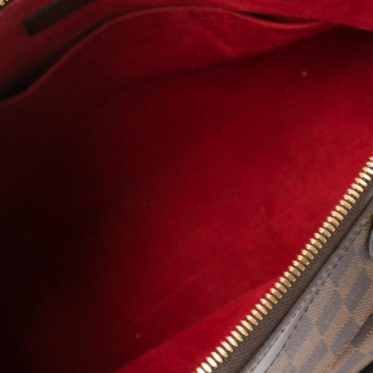 Louis Vuitton Damier Ebene Canvas Trevi GM Bag For Sale 4